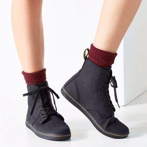 Dr. Martens | Shoreditch Black Canvas Ankle Bootie
